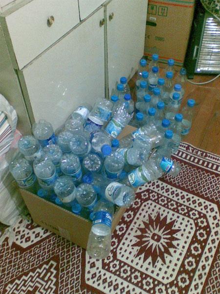 Şu an elimde olan tüm şişeler burada...